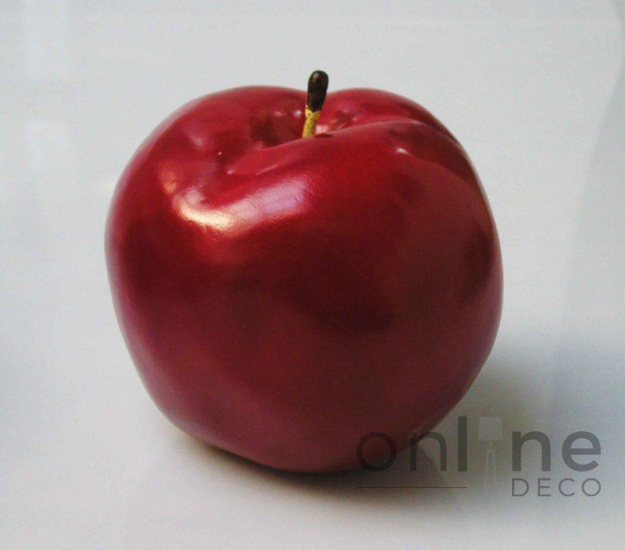Fruta Manzana roja decorativa 11 cm – Set x 6