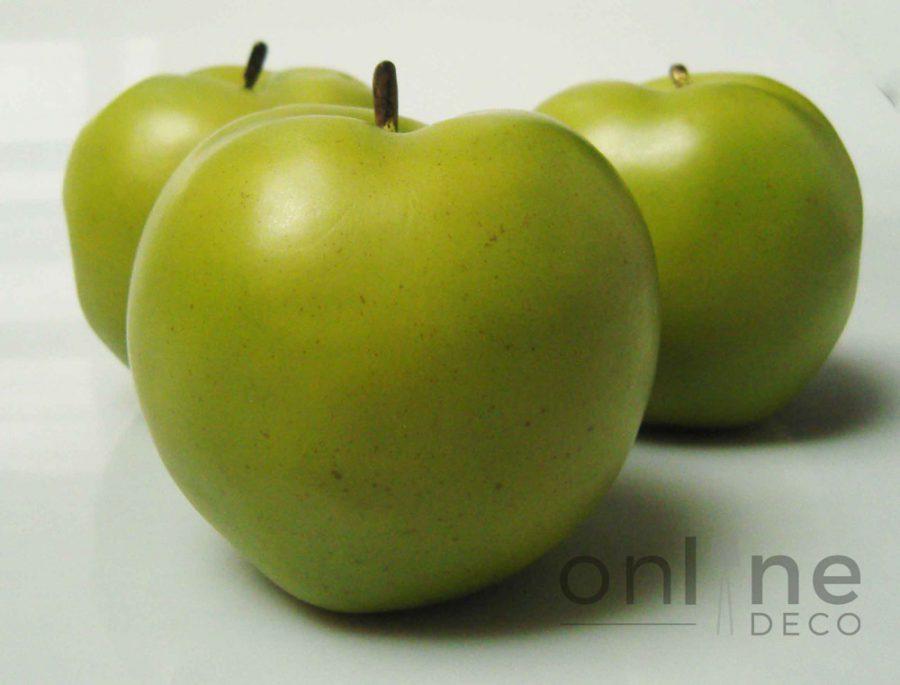 Fruta Manzana verde decorativa 11 cm – Set x 6