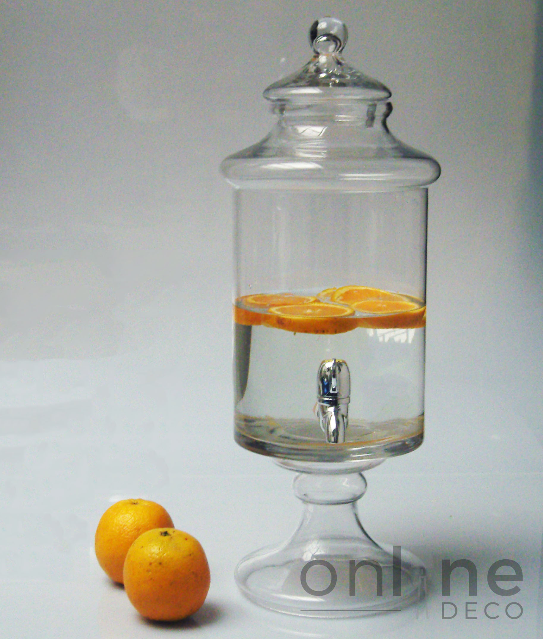 Dispenser Cristal con Grifo y Pie