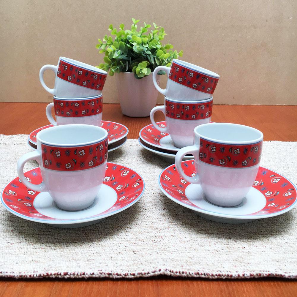 tazas rojas te